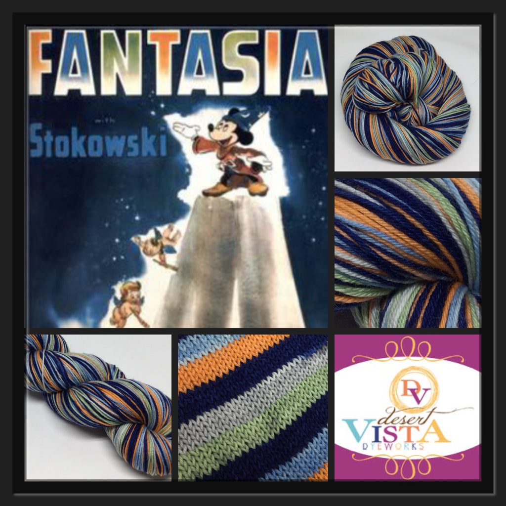 Vintage Fantasia Six Stripe Self Striping Yarn