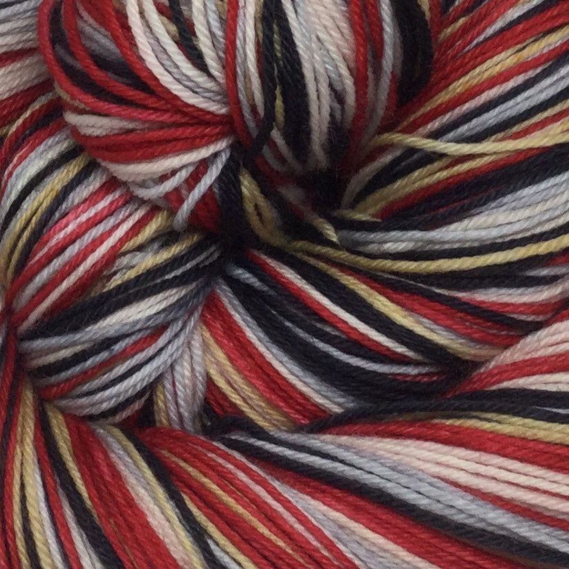 Mothra Five Stripe Self Striping Sock Yarn