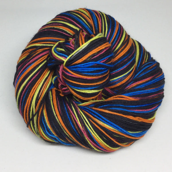 Anansi the Spider Eight Stripe Self Striping Sock Yarn