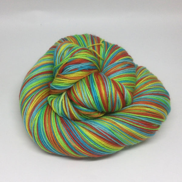 Hungry, Hungry Hippos Six Stripe Self Striping Yarn