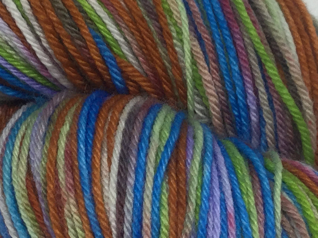 A ZomBodys Life for Me Six Stripe Self Striping Yarn