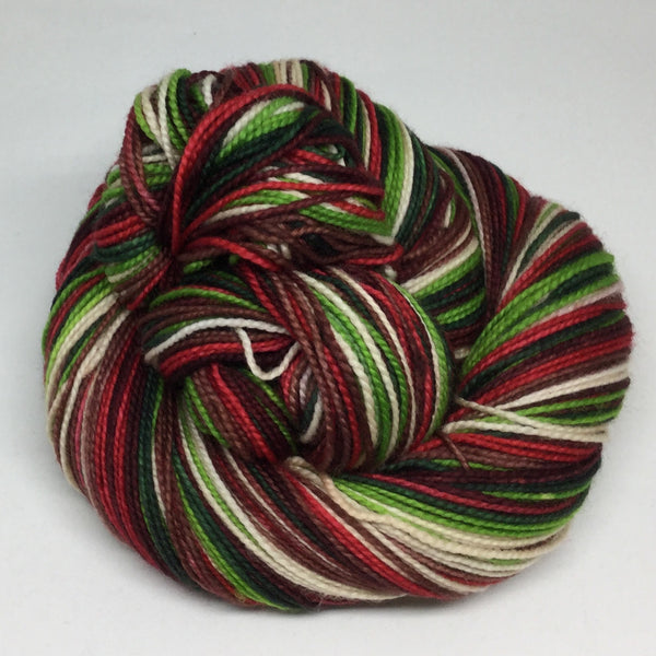 Country Christmas Six Stripe Self Striping Yarn