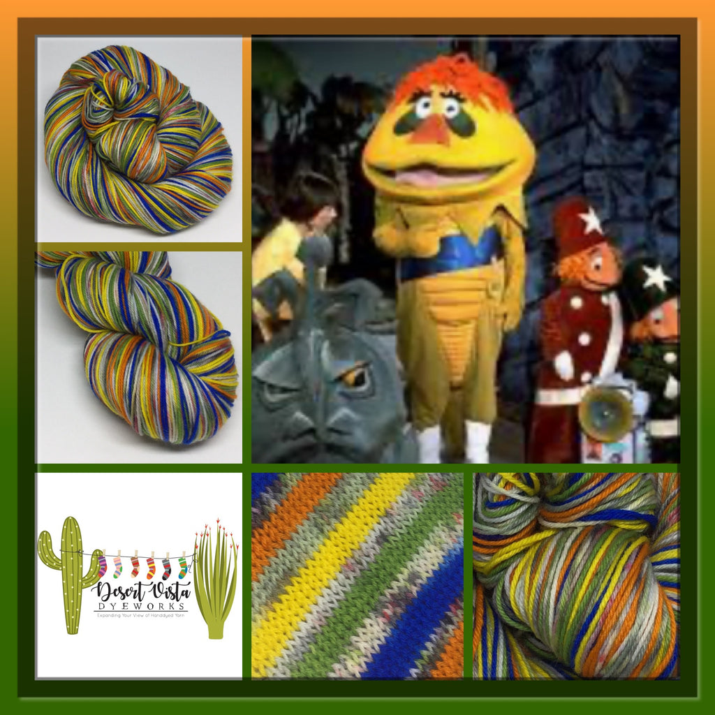 HR Puff n' ZomBody Eight Stripe Self Striping Yarn