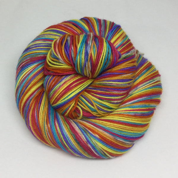 Rainbow Jello Seven Stripe Self Striping Yarn