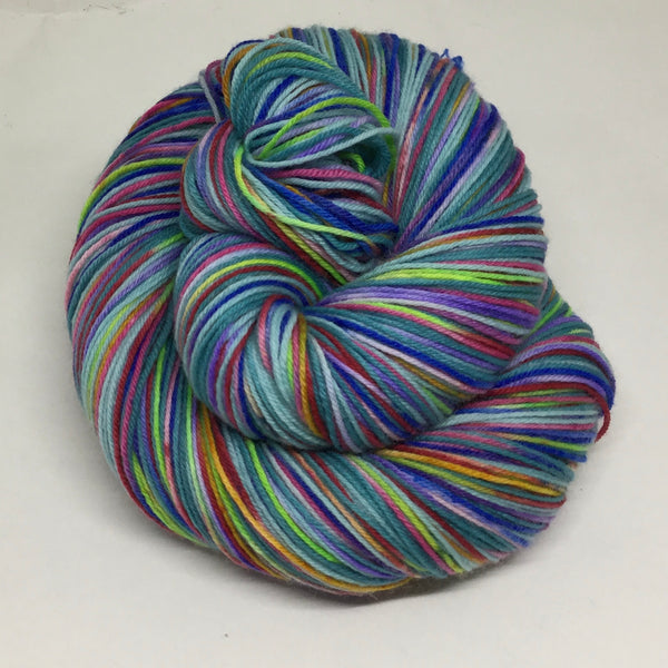 Harbin Ice Festival Four Stripe Self Striping Sock Yarn