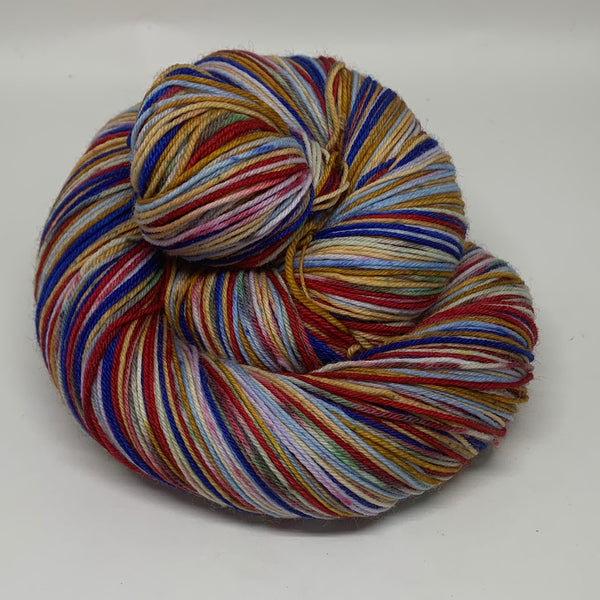 Anthony and ZomBody Cleopatra Eight Stripe Self Striping Sock Yarn