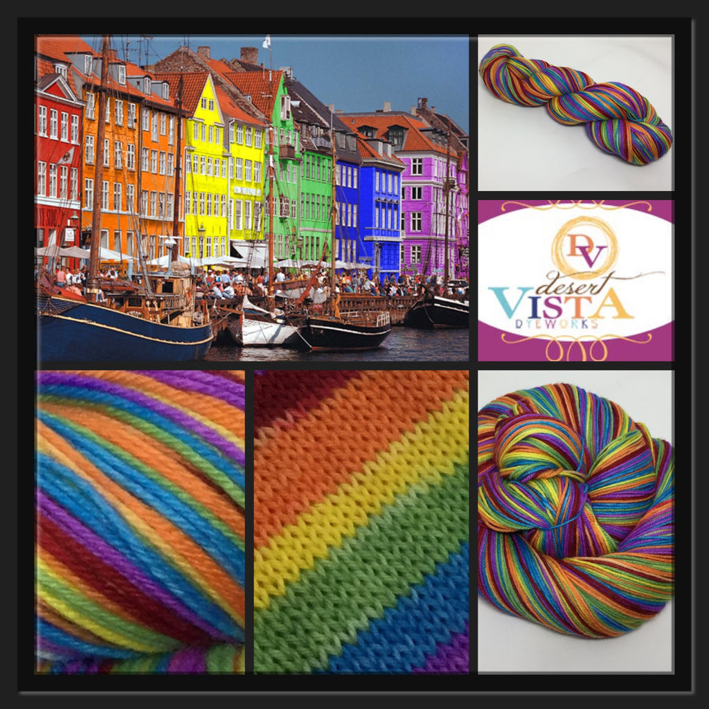 Nyhavn Canal Six Stripe Self Striping Yarn