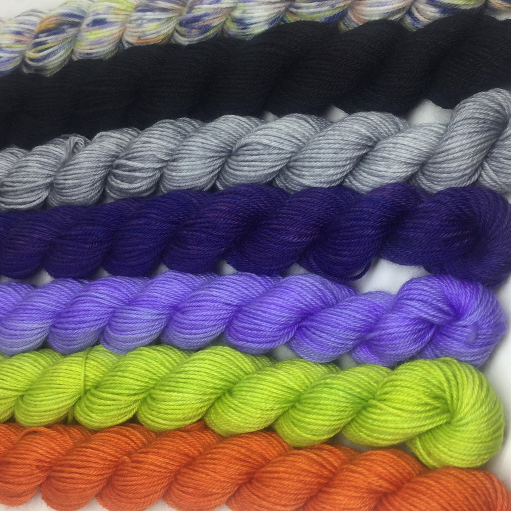 Halloween Mini Skein for Toes and Heel Set Approx. 700 yards