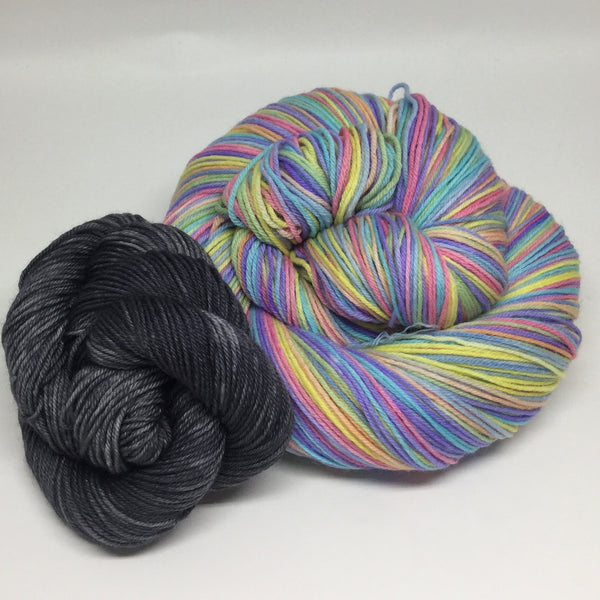 Stay Home Eight Stripe Self Striping Yarn with Mini Skein