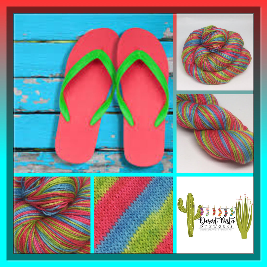 Flip Flops Three Stripe Self Striping Yarn