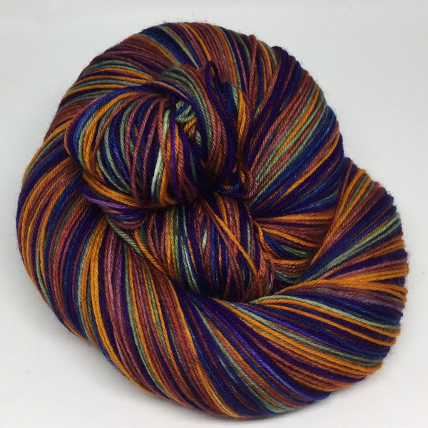 Autumn Rainbow Six Stripe Self Striping Yarn