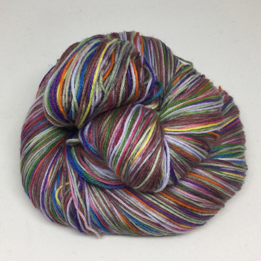 The Chocolate ZomBody Factory Four Stripe Self Striping Yarn