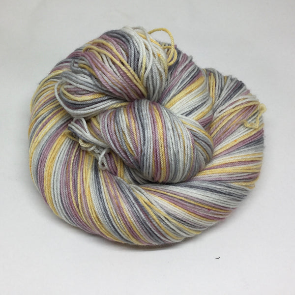 January Snow Five Stripe Self Striping Sock Yarn