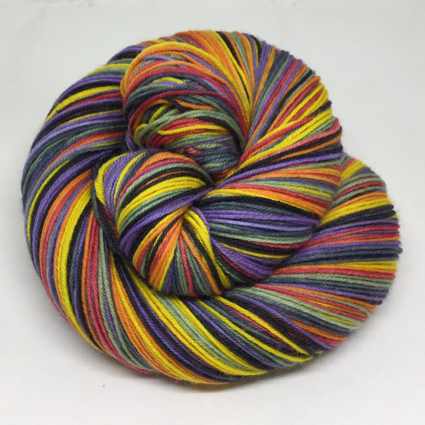 January Summer Seven Stripe Self Striping Sock Yarn