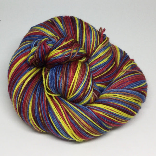 In Like A Lion Six Stripe Self Striping Sock Yarn