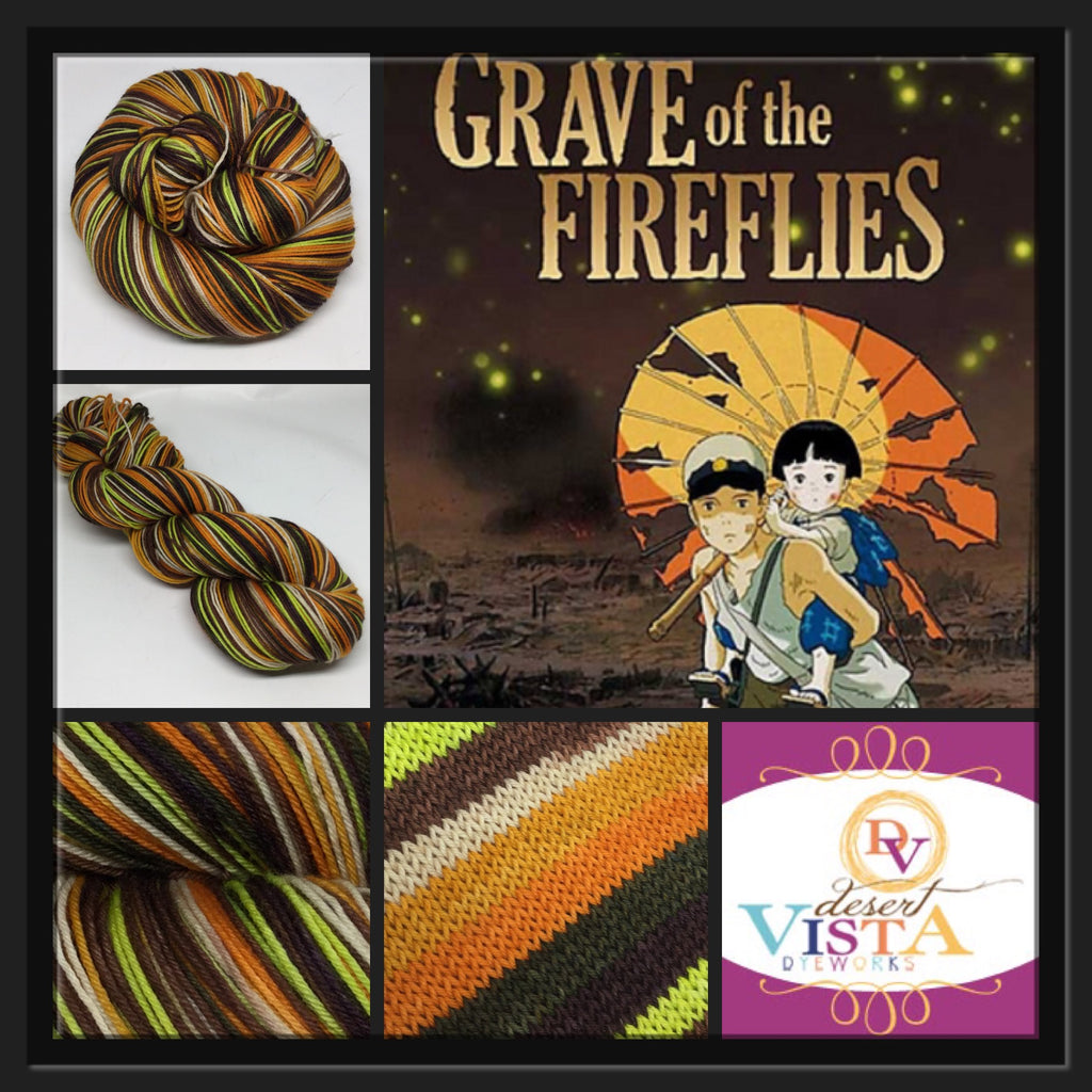 Grave of the Fireflies Seven Stripe Self Striping Yarn