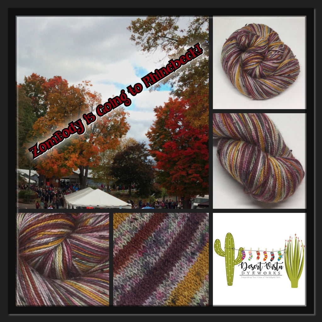 ZomBody's Going to Rhinebeck Six Stripe Sock Yarn