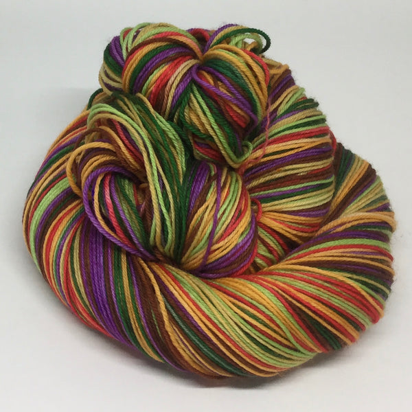 Cheeseburger Seven Stripe Self Striping Yarn