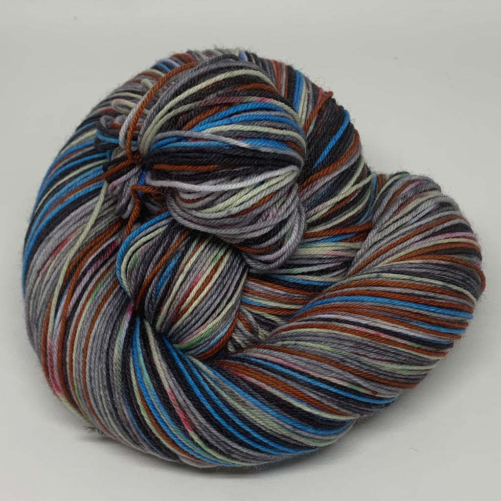 John Snow and ZomBody Ygritte Eight Stripe Self Striping Sock Yarn