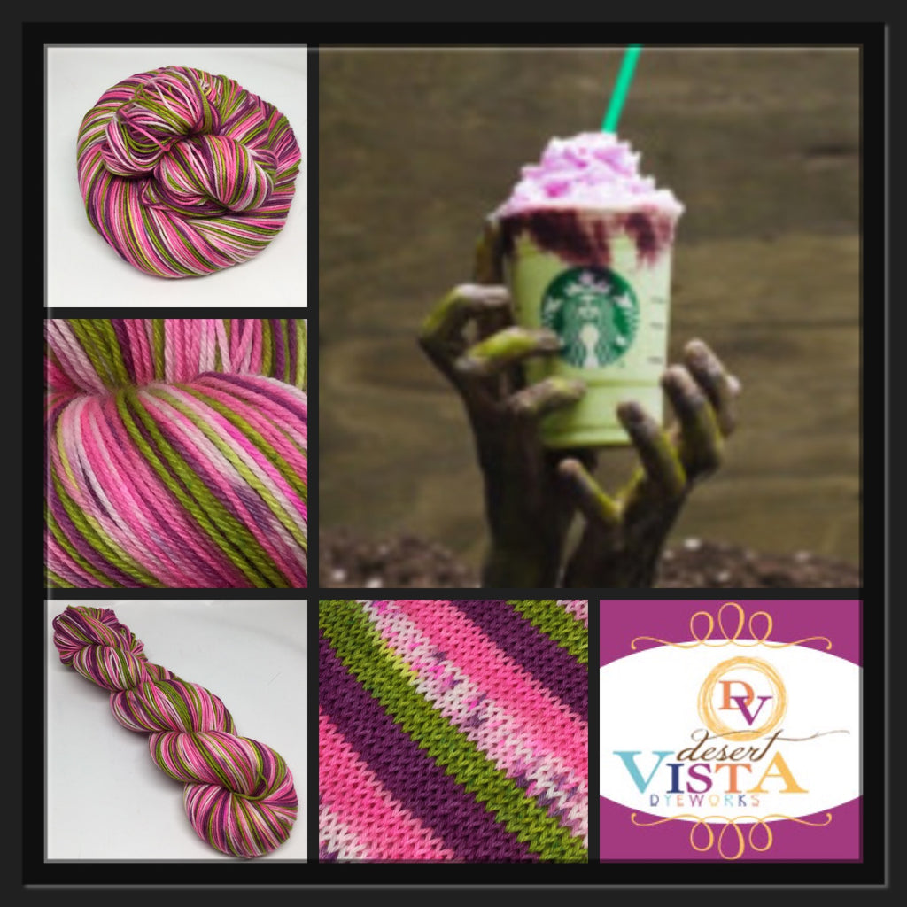Zombie Frap Four Stripe Self Striping Yarn
