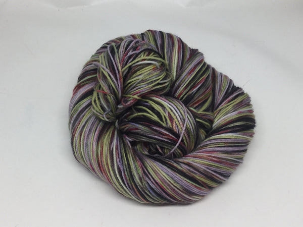 The ZomMistress of Evil Six Stripe Self Striping Yarn