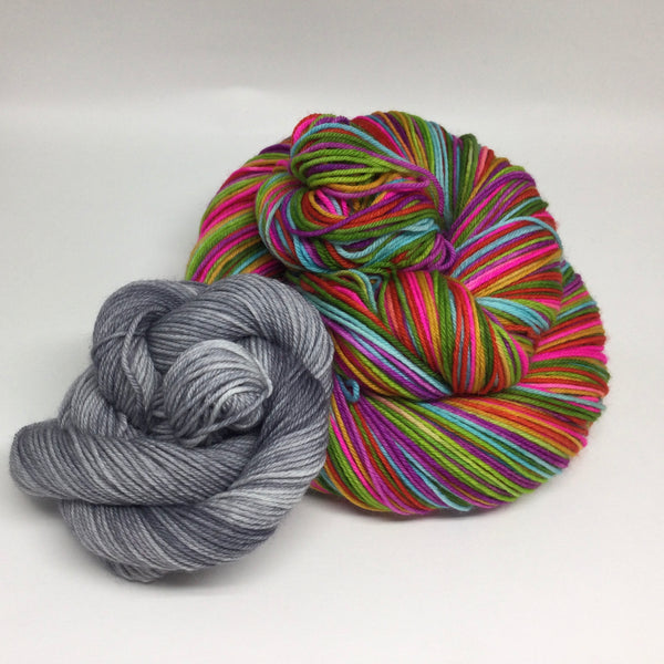 Panache Ganapati Seven Stripe Self Striping Yarn with Mini Skein for Toes and Heels