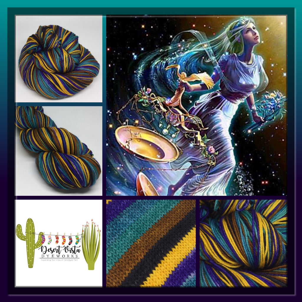 Libra Six Stripe Self Striping Yarn