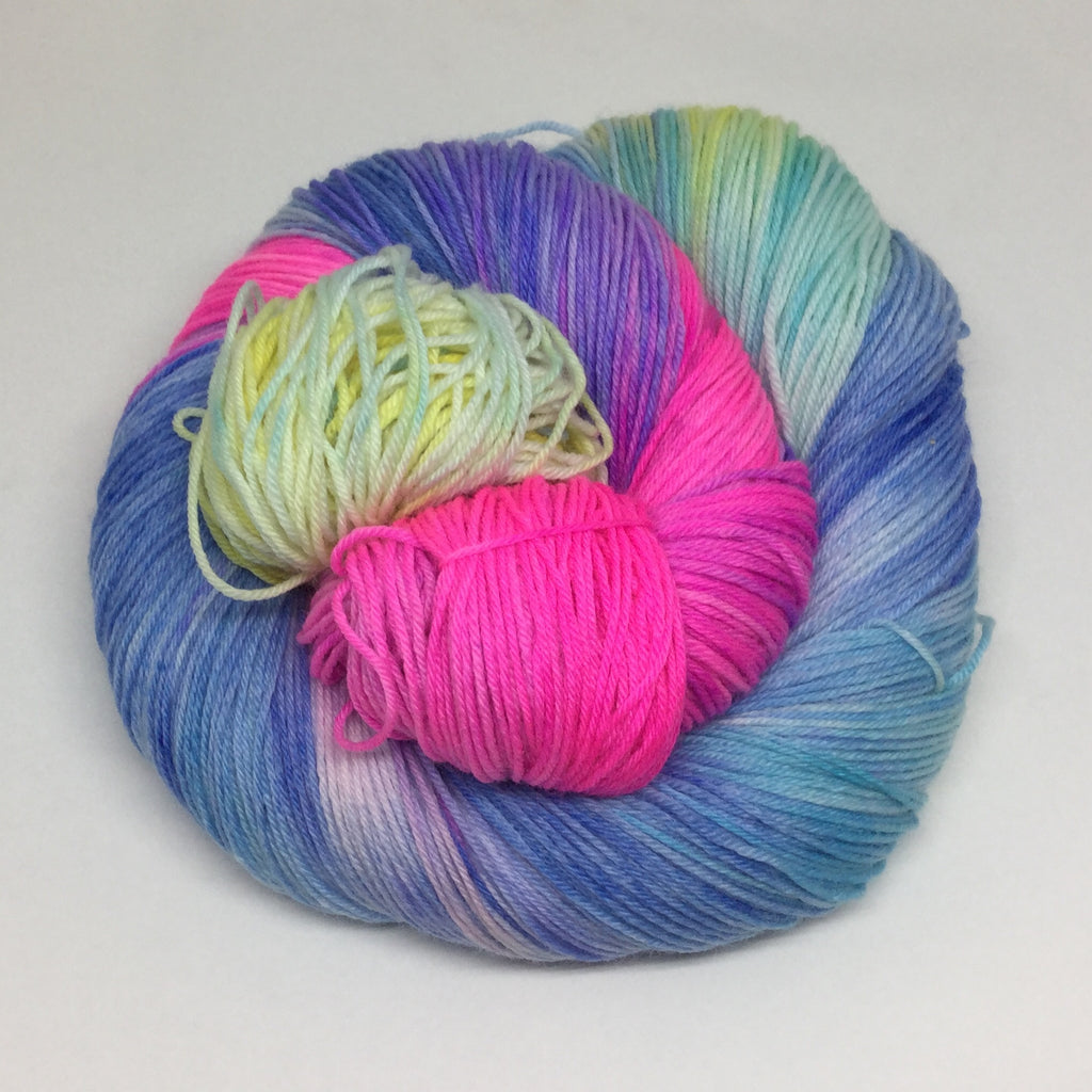 Neon Cotton Candy Variegated Yarn