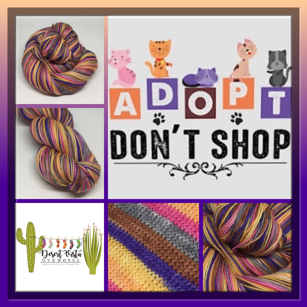 Adopt, Don't Shop Six Stripe Self Striping Yarn