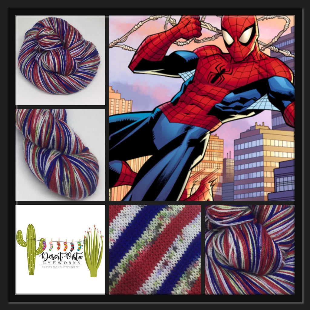 Spider Zombody Man Four Stripe Self Striping Yarn