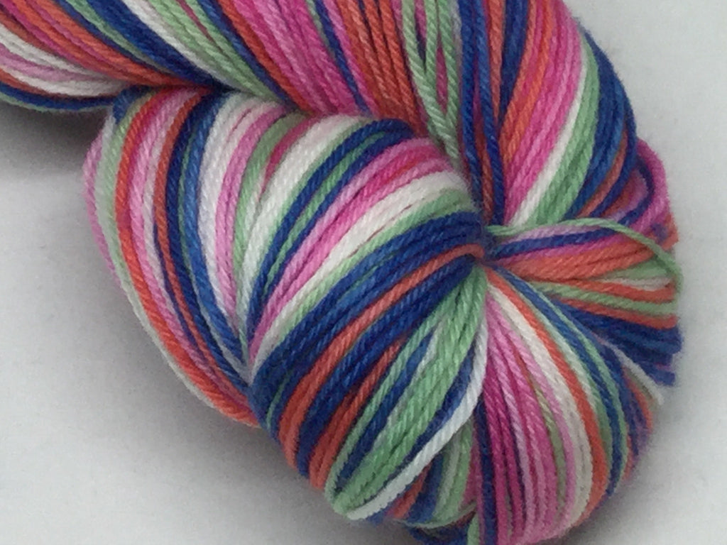 No Soggy Bottoms Six Stripe Self Striping Yarn
