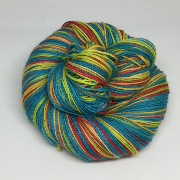 Caribbean Sea Four Stripe Self Striping Sock Yarn