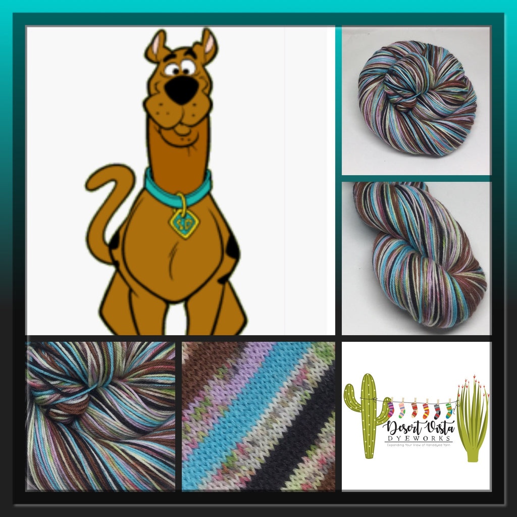 Scooby Dooby ZomBody Doo! Six Stripe Self Striping Yarn