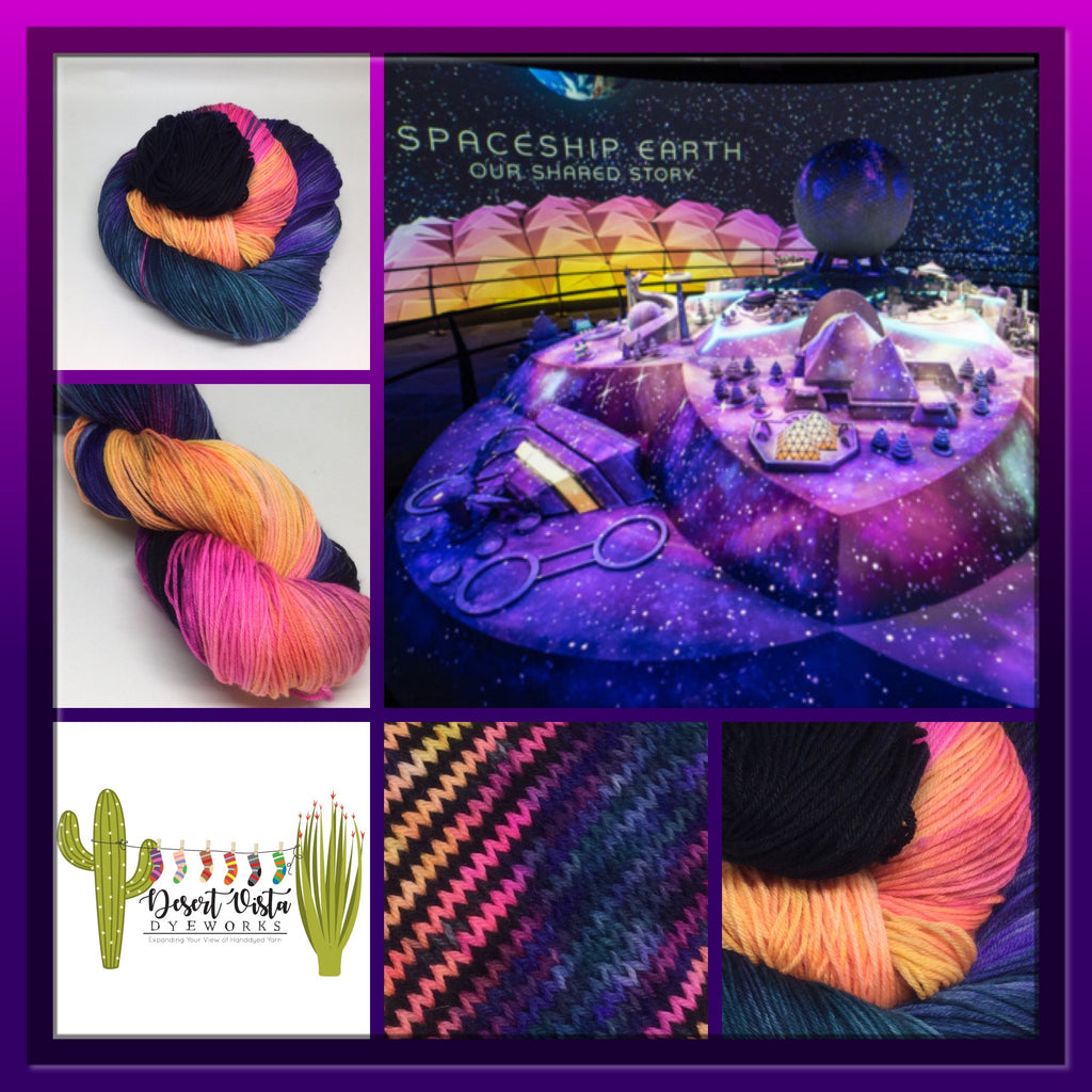 Spaceship Earth Variegated Sock Yarn