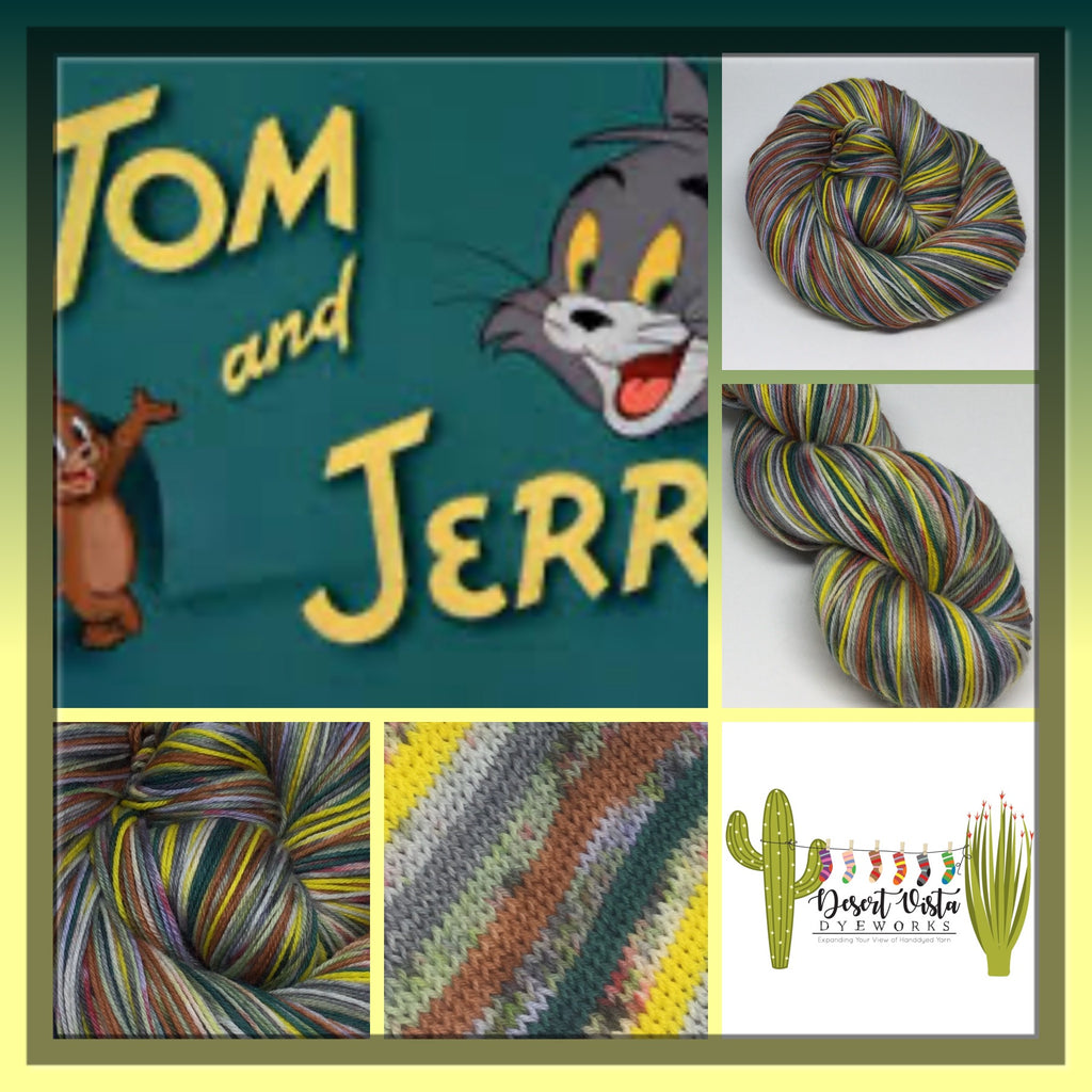 Tom and  ZomBody Jerry Eight Stripe Self Striping Yarn