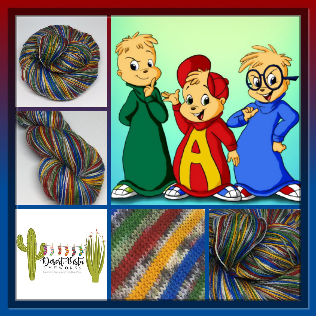 ZomBody and The Chipmunks Eight Stripe Self Striping Yarn