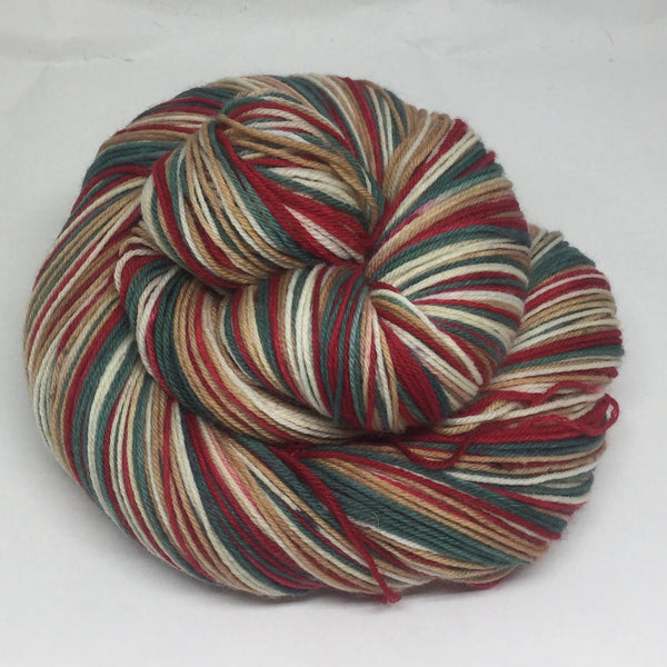 Vintage Advent Box Four Stripe Self Striping Sock Yarn