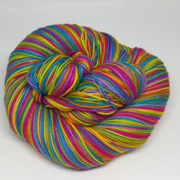 Summer Rainbow Six Stripe Self Striping Yarn