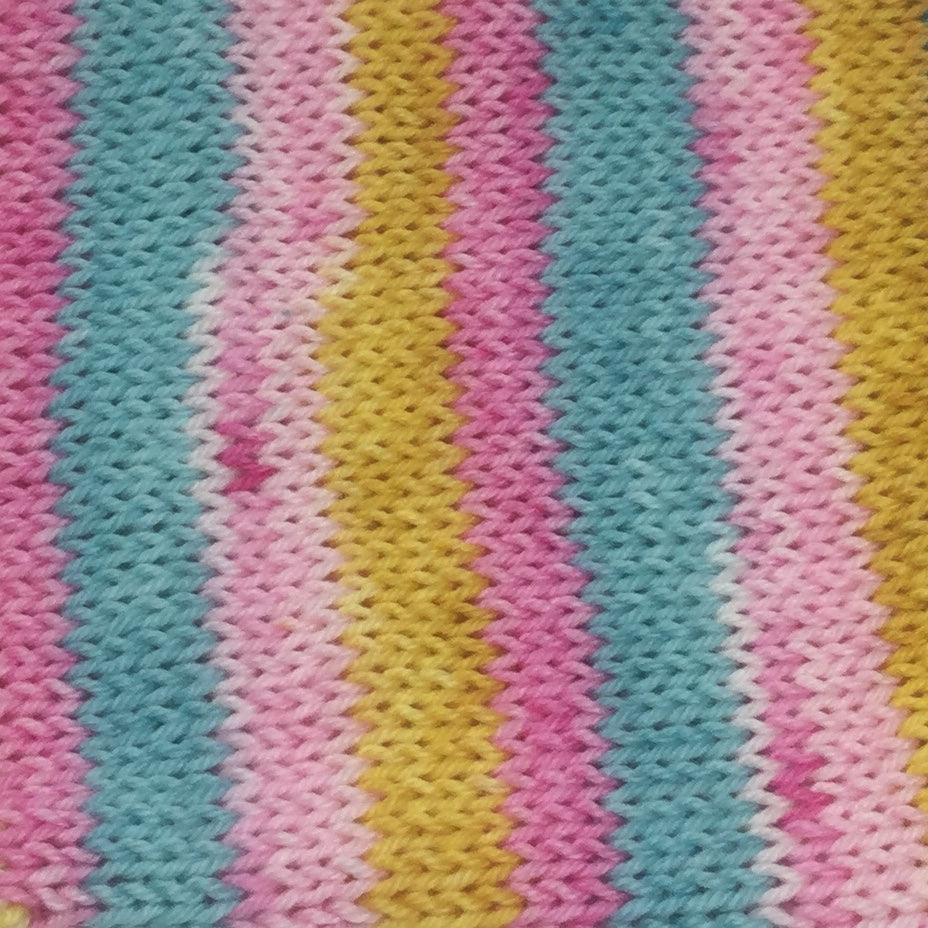 An Entire Pastel Wardrobe Four Stripe Self Striping Yarn