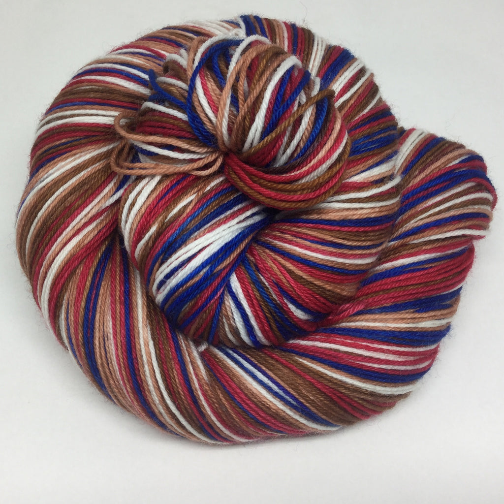 Chocolate and Berry Torte Five Stripe Self Striping Yarn