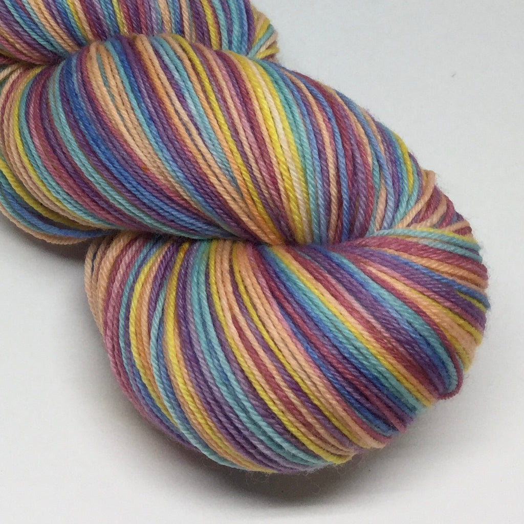 Winter Rainbow Six Stripe Self Striping Yarn