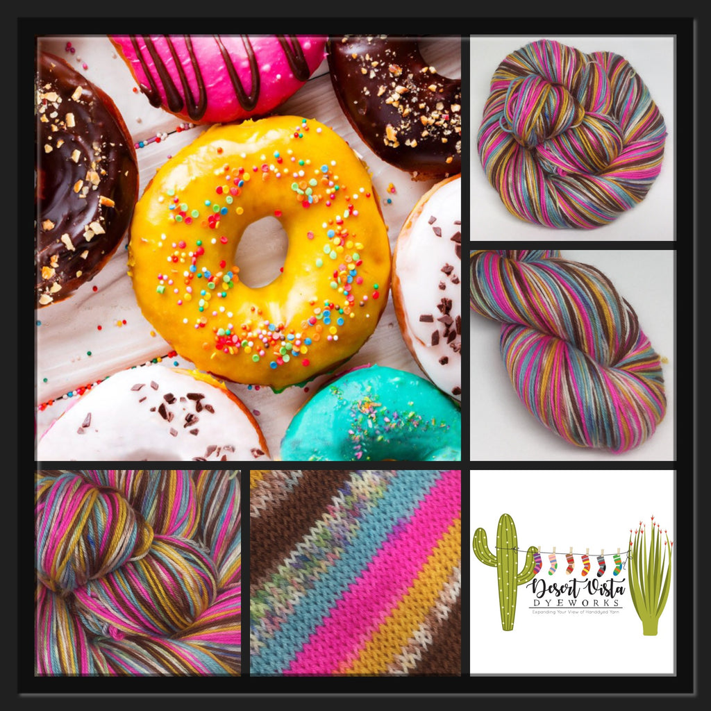 Donuts Six Stripe Self Striping Yarn