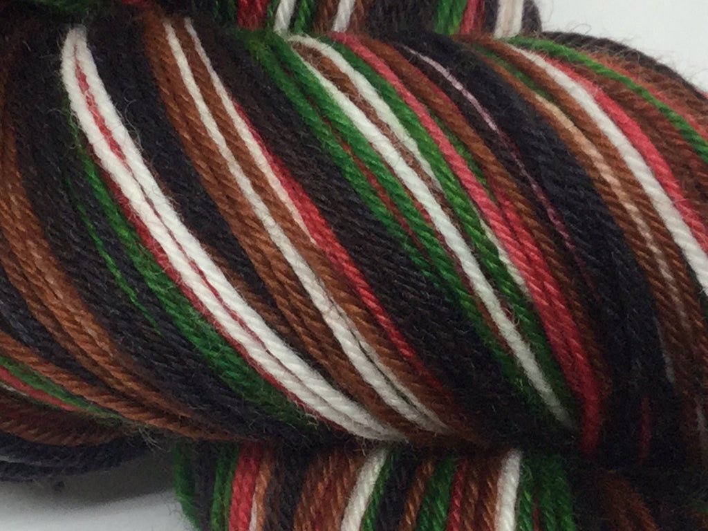 Agatha's Christmas Pudding Six Stripe Self Striping Yarn