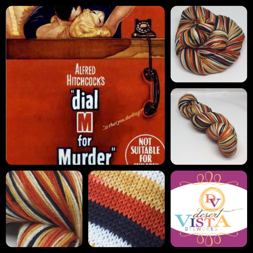 M is for Murder Four Stripe Self Striping Yarn