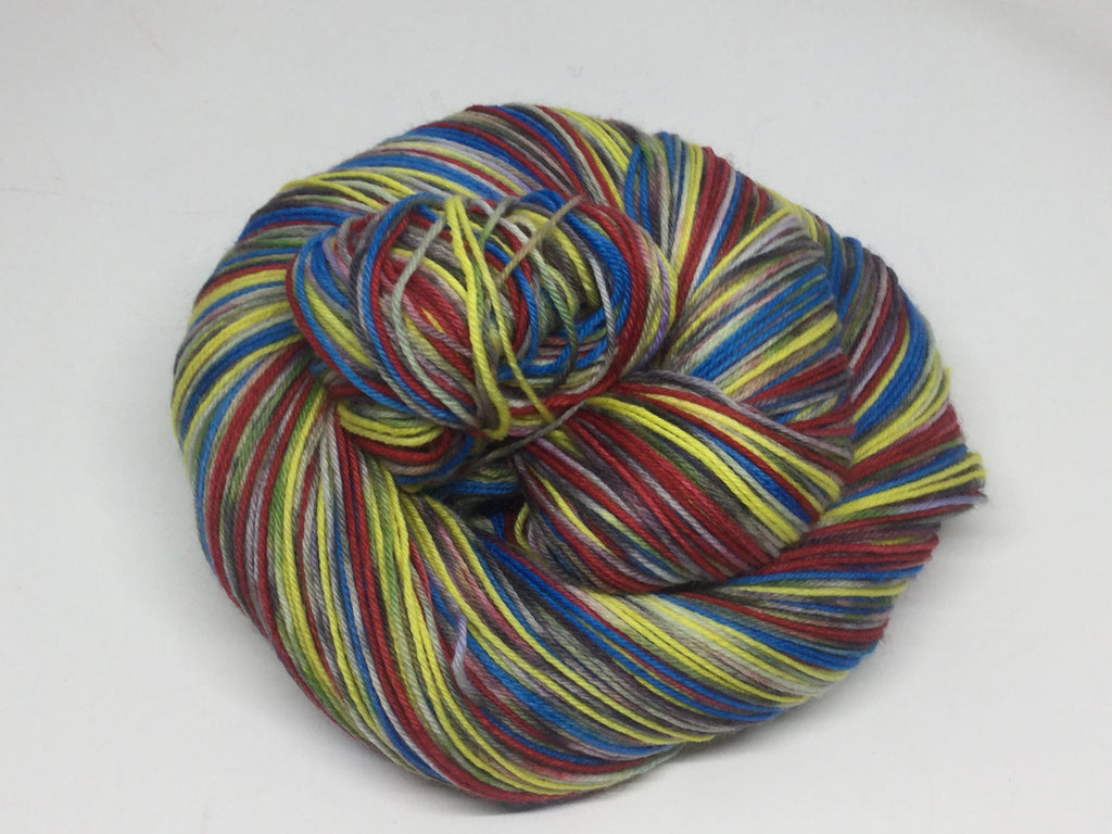 Snow White and the Seven Zombodys Six Stripe Self Striping Yarn