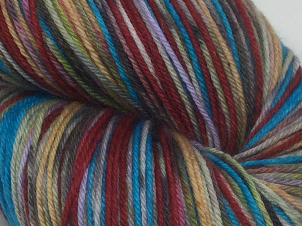 Colors of the ZomBody Wind Six Stripe Self Striping Yarn
