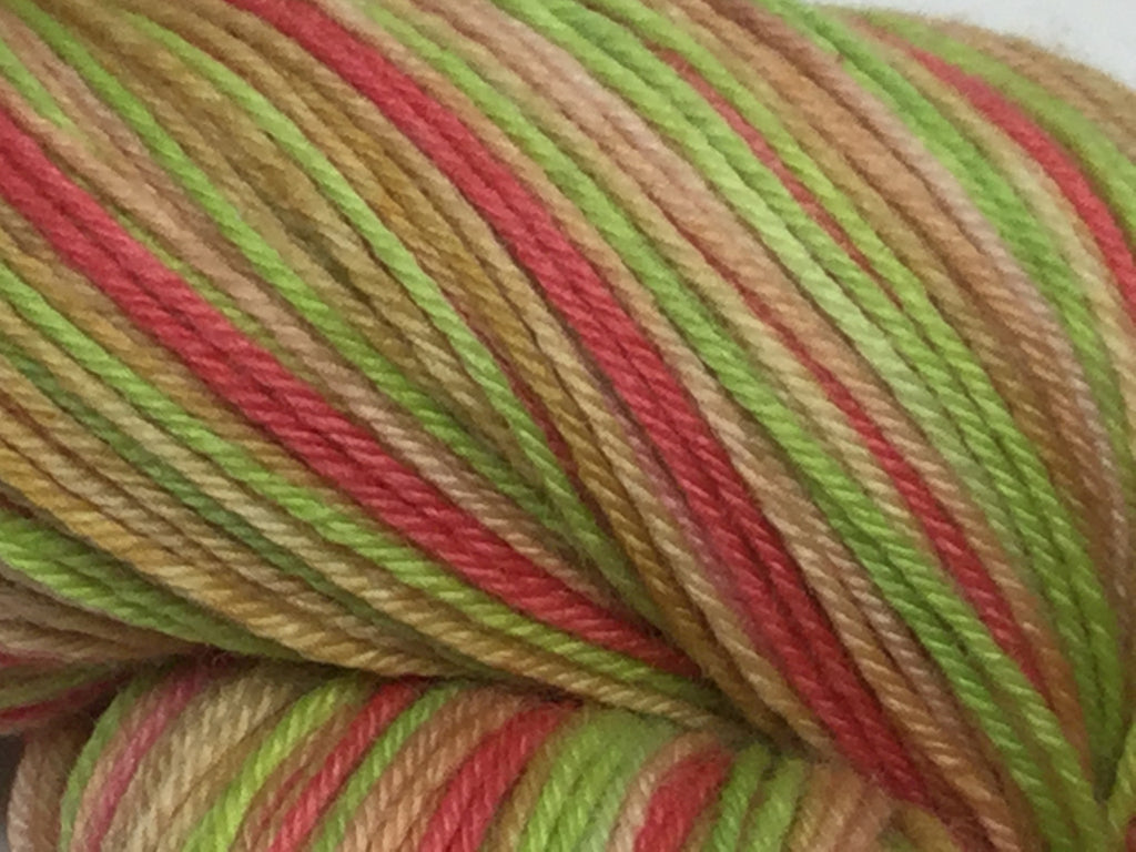 Fried Green Tomatoes Four Stripe Self Striping Yarn