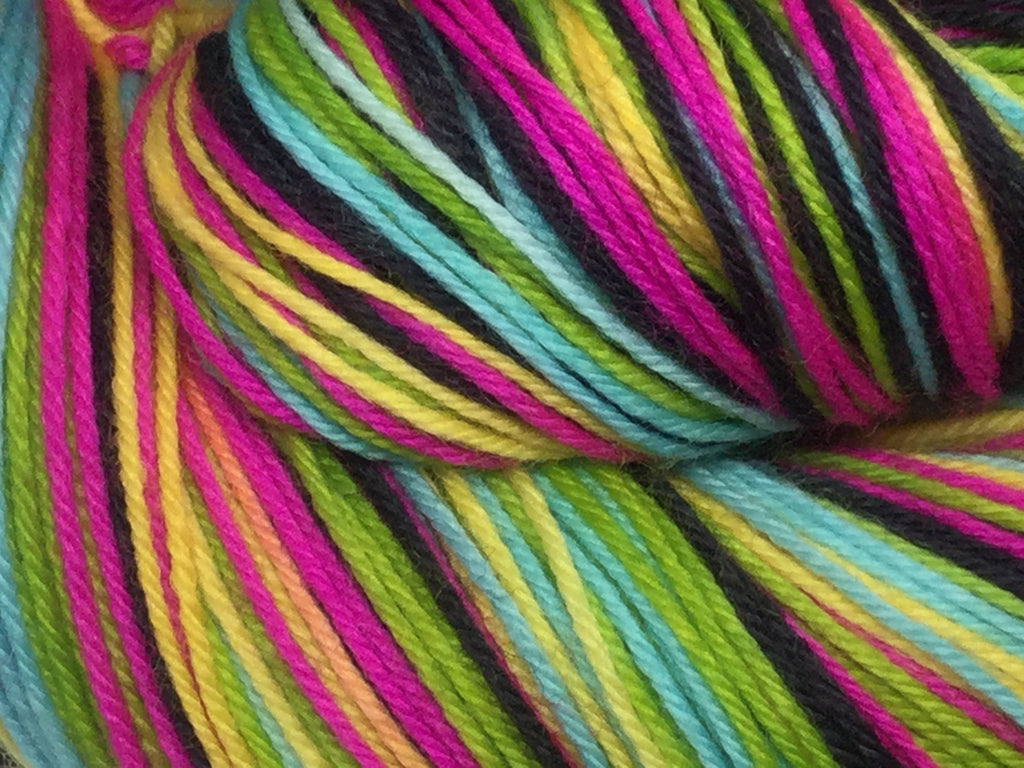 Neon Skull Five Stripe Self Striping Yarn