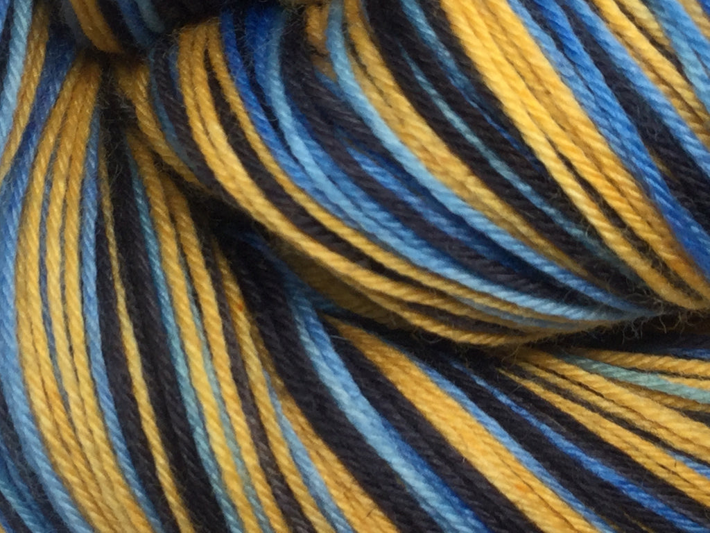 Black Carnival Three Stripe Self Striping Yarn