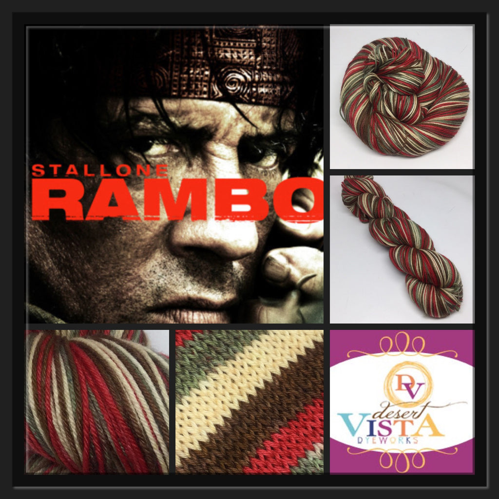 These Are My Rambo Socks Four Stripe Self Striping Yarn